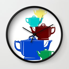 Favoriteware Stacked Pots Wall Clock