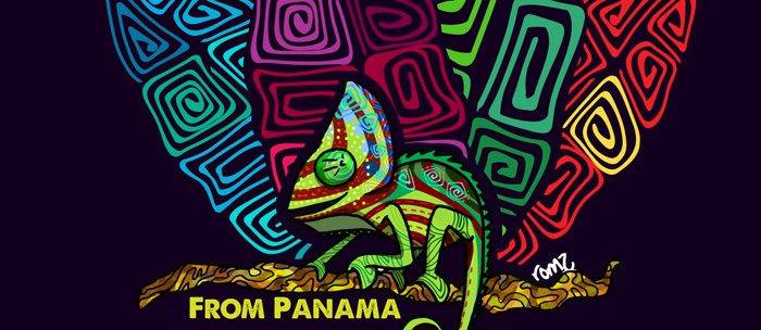 Panamanian kuna chamaleon Coffee Mug