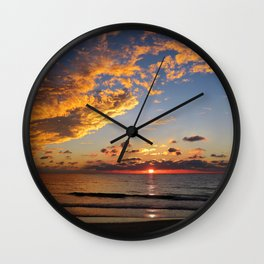 Florida Sunset - South Lido Beach  Wall Clock