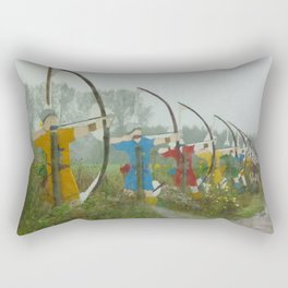 Archers, Agincourt, France Rectangular Pillow
