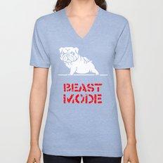 Beast Mode English Bulldog Unisex V-Neck