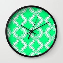 Grille No. 1 -- Seafoam Wall Clock