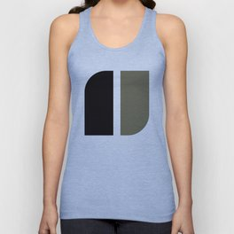 Geometric Pattern #41 (black gray) Unisex Tank Top