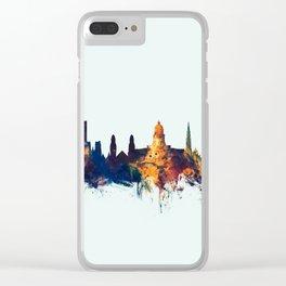 Brussels Belgium Skyline Clear iPhone Case