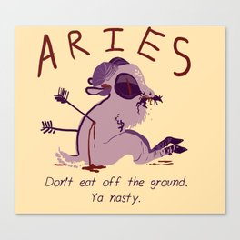 Horrorscopes- Aries Canvas Print