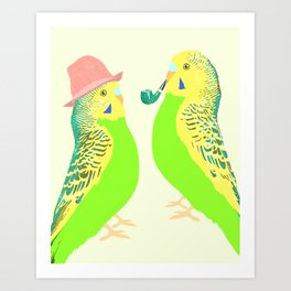 Feather Friends Art Print