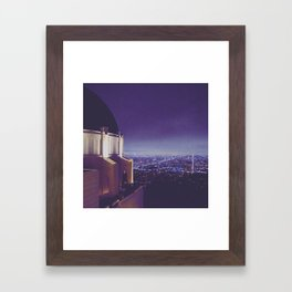 Observing the City Framed Art Print