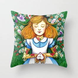 """""""Twinkle, twinkle, little bat! How I wonder what you're at!"""" Throw Pillow"""