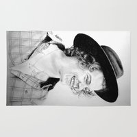 harry Area & Throw Rugs featuring HARRY by Drawpassionn