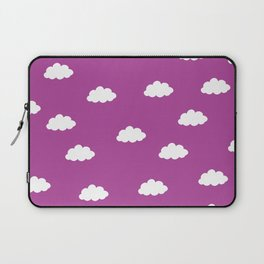 White clouds in purple pink background Laptop Sleeve