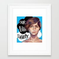 the fault in our stars Framed Art Prints featuring The Fault in Our Stars by Loorae