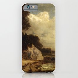At Larchmont Manor Long Island Sound New York 1890 By David Johnson | Reproduction | Romanticism Lan iPhone Case