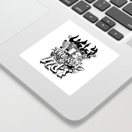 Ugly is the new hot - Monster lettering Sticker