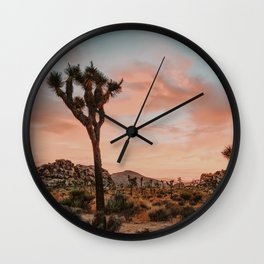 Joshua Tree IX / California Desert Wall Clock
