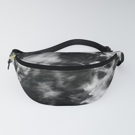 Waves III - Black and White Fanny Pack