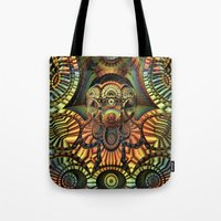totem Tote Bags featuring Totem by Lyle Hatch