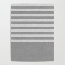 Gray color block and stripes Poster