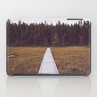 hiking iPad Cases featuring Fall Hiking by Simon Laroche