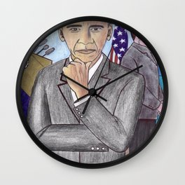 Barack obama the new president (early work) Wall Clock