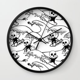 surferSkeleton Wall Clock