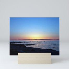 Sun Sets up the River, Across the Sea Mini Art Print