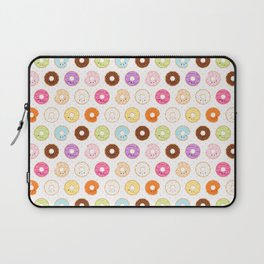 Happy Cute Donuts Pattern Laptop Sleeve