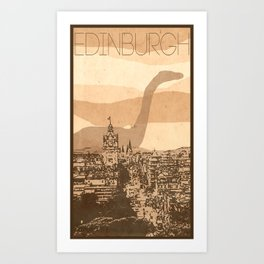 Every City Has Its Creature - Edinburgh  Art Print