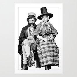 Welsh Couple  Art Print