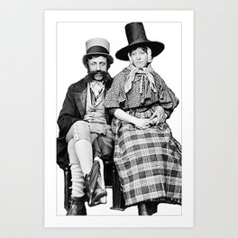 Welsh Couple  Art Print