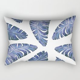 Tropical Banana Leaves Blue #society6 #buyart Rectangular Pillow