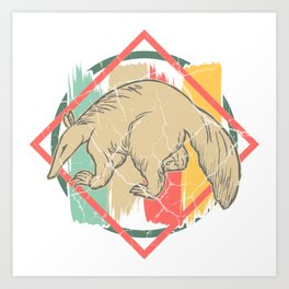 Anteater toothy sloth gift primeval forest Art Print
