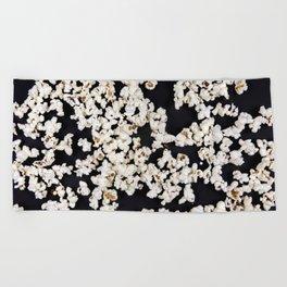 // POPCORN BLACK // Beach Towel