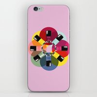 nail polish iPhone & iPod Skins featuring Designer Nail Polish Print by BeckiBoos