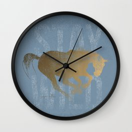 Horse (Stay Wild) Wall Clock