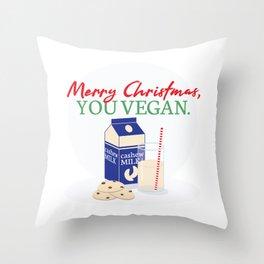 Merry Christmas, You Vegan Throw Pillow