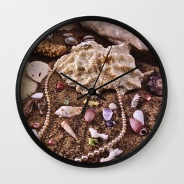 Pearls In The Sand Wall Clock