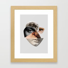 Lovers Portrait with moon Framed Art Print