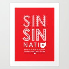 Locals Only — Sinsinnati, OH Art Print
