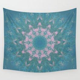 Navajo Turquoise Gemstone Mandala No. 40 Wall Tapestry