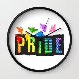 Pride Bees Wall Clock