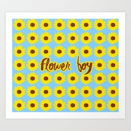 Sunflower Boy Art Print