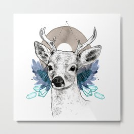The Deer (Spirit Animal) Metal Print