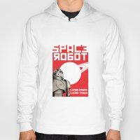 soviet Hoodies featuring Retro Soviet minimalism spacerobot   by Cardula