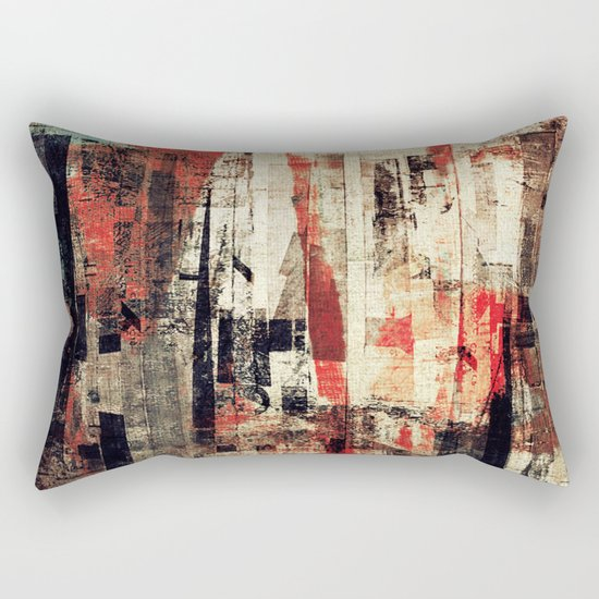 """""""Messages"""" Inspired by the Bobby McFerrin music. Rectangular Pillow"""