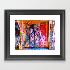 Public Pallet Framed Art Print