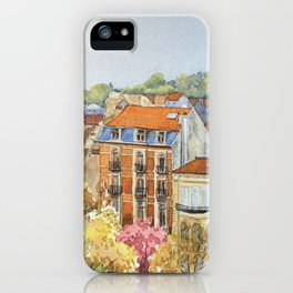 Brussels: neighborhood in Forest area. iPhone Case