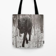 Snow Wolf Tote Bag