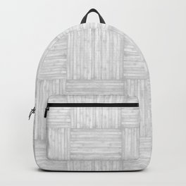 White Faux Bois Wood Pattern Backpack