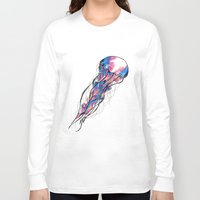 jelly fish Long Sleeve T-shirts featuring Spiral Galaxy Jelly Fish  by Jax0