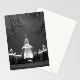Night Life of Alma Mater II Stationery Cards